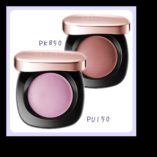 ブルべ夏タイプにお似合いなコスメデコルテのチークPU150番とPK850番のチークの画像です